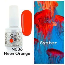 SYSTER 15ml Nail Art Soak Off Color UV Lamp Gel Polish N036 - Neon Orange