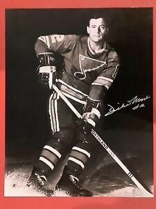 DICKIE MOORE AUTHENTIC SIGNED AUTO ORIGINAL 8 x 10 NHL PHOTO COA ST. LOUIS BLUES