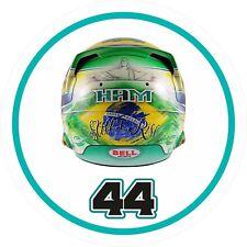Lewis Hamilton Autocollant Ayrton SENNA HOMMAGE Casque design avec No 44 f1 Autocollant