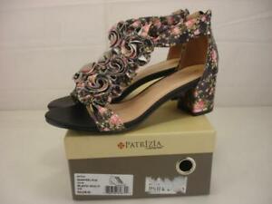 Women's 9 M 40 Patrizia by Spring Step Quinteel FLM Black Floral Sandals T-Strap