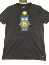 Fabulous FENDI MONSTER Patch T-shirt. Taglia L, Prezzo Al Dettaglio £ 630