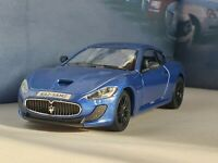 NEW BOYS TOYS MASERATI GRAN TURISMO MC - BLUE 1.36 DIECAST MODEL CHRISTMAS GIFT
