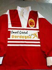 superbe  maillot de rugby FFR dordogne   taille xs  rétro