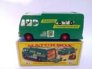 `68 A+/A Vintage Matchbox M-6 # Racing Car Transporter MinT OVP