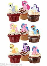 24 PRECUT MY LITTLE PONY STAND UP EDIBLE BIRTHDAY CUPCAKE WAFER CARD TOPPERS