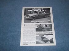 """How-To Tech Info Article On Chopping a 50's GM Hardtop """"Remastering a Roadmaster"""