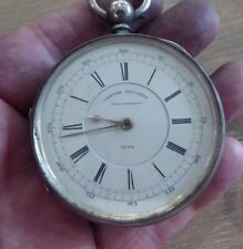 Seconds Chronograph Pocket Watch 1884 Manchester E. Wise Antique Silver Centre