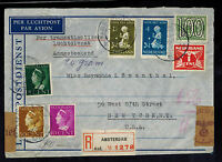 1940 Occupied Netherlands Censored Clipper Cover to USA