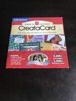 American Greetings CreataCard Broderbund Select 6 PC CD