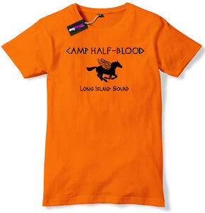 Camp Half Blood Funny Book T-Shirt Mens / Boys tshirt