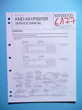 SERVICE MANUAL INSTRUCTIONS FOR KENWOOD KMD-X91/KMD-PS970R, Original