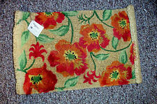 Home Interiors Homco 76446 Floral Fibered Door Mat Approx 17 X 29 Inches Nib