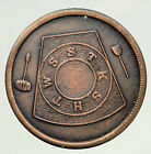 USA FREEMASON Newark, NEW YORK Lodge No 117 VINTAGE Penny Masonic Token i93307