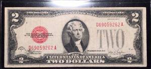 1928-F $2 Red Seal United States Note Fr.1507 U.S. Paper Money