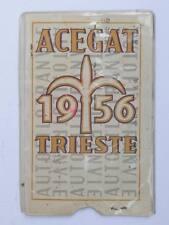 TRAM TRANVIE BUS abbonamento tessera Acegat Trieste 1956 Autofilotranvie 11