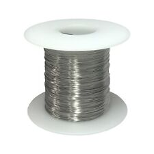 "30 AWG Gauge Stainless Steel 316L Wire 1000' Length 0.0100"" Diameter"