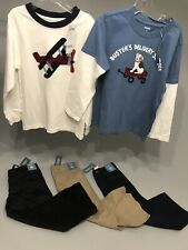 NWT GYMBOREE Lot Boy Size 5 Pc Black Corduroy Khaki Jeans Shirts Outfit Set $118