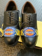 NEW Dickies Oxford Steel Toe-Cap Safety Shoes - Black Sizes 8 FA12350 Work Boots