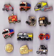 TRUCK LORRY pin badges DAF MAN Les Routiers Mack Diesel Engine Mercedes Benz