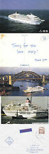 JAPANESE CRUISE SHIP MS ASUKA A SHIPS CACHED COVER 2 COLOUR POSTCARD & MAG PICT