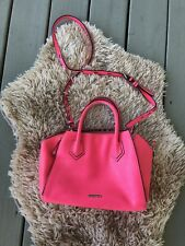 aacabb9925 Rebecca Minkoff Crossbody Leather Purse Bag Electric Hot Neon Pink M1