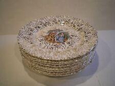 """Set of 8 Plates Liberty China Canonsburg 22 Carat Gold """"Empress Chantilly"""""""