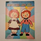 Vintage 1966 Whitman Raggedy Ann and Andy Paper Dolls and Clothes Uncut Unused