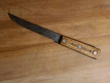 """Vintage Case XX Old Forge 417-6 Carbon Steel 6"""" Boning Knife Brass Rivets"""