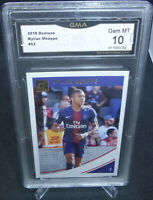 2018 Panini Donruss Soccer Kylian Mbappe Card #53 GMA Graded Gem Mint 10 FRANCE