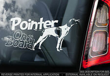Pointer - Car Window Sticker - English Pointer Gun Dog Sign, Gift Print Art