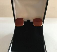Retired Vintage Cartier 14K Yellow Gold Coral Cufflinks