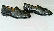 NICE & RARE! Mens $995 ZELLI Genuine Crocodile Alligator Loafers Shoes Boots 9.5