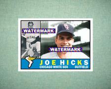 Joe Hicks Chicago White Sox 1960 Style Custom Baseball Art Card