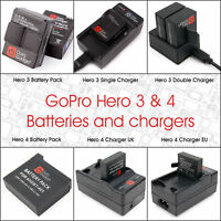 Replacement / Spare Batteries & Chargers For GoPro Hero 3 / 4 / 5 / 6 / 7 Black