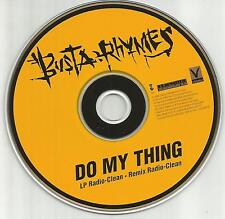 BUSTA RHYMES Do My thing w/ RARE CLEAN & REMIX TRX PROMO DJ CD Single 1996 MINT