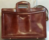 Maxine Robinson Leather Briefcase Vintage Rich Brown  Made in the USA -Quality