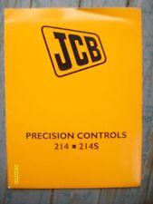 Original JCB Precision Controls 214 214S Backhoe Loader folder with booklet etc.