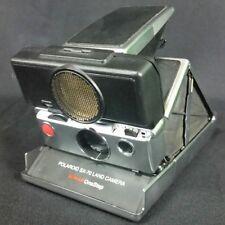 Polaroid SX-70 Sonar One Step Instant Land Camera Folding Leather Black Silver