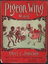Pigeon Wing Rag 1909 Large Format Sheet Music