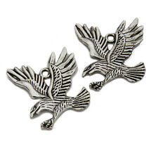 10x Fashion Jewelry Vintage Silver  Eagle Alloy Dangle Pendant Fit Necklaces J