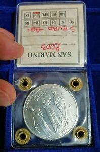 Repubblica di San Marino 5 euro 2003 RARA moneta Argento 18 grammi