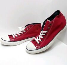 New Converse Chuck Taylor All Stars Clean Mid Sneakers Chili Pepper Red Mens 12