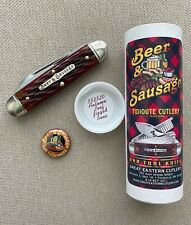 GEC #35 Bar Tool Knife Beer & Sausage Autumn Leaf Jigged Tidioute Cutlery 352320
