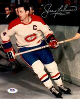 Jean Beliveau autographed signed 8x10 photo NHL Montreal Canadiens PSA COA