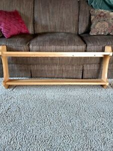 "Genuine Amish Solid Oak Plate Shelf 42"" plate rack,honey color"