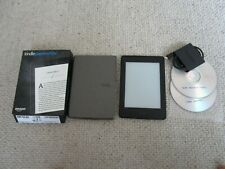 BOXED BLACK AMAZON KINDLE PAPERWHITE 3 7TH GENERATION + 460 BOOKS FREE POST