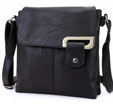 Ladies Cross Over Bag Multi Compartment Bag Faux Leather Shoulder Messenger Body