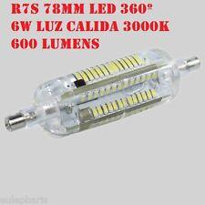 Bombilla Lineal R7s Led 6w 78mm Luz Calida 3000k, 360º 600 Lumen Bajo Consumo