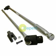 "24"" 1/2'' Drive Knuckle Breaker Flexi Head Bar Chrome Vanadium Car Garage Tool"