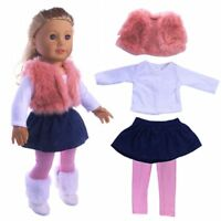 """Doll Accessory Clothes Suit+Shoes for 18"""" American Girl/43cm New Born Baby Dolls"""